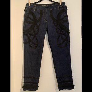 DOLCE & GABBANA CAPRI 40 4 detailed trim jeans
